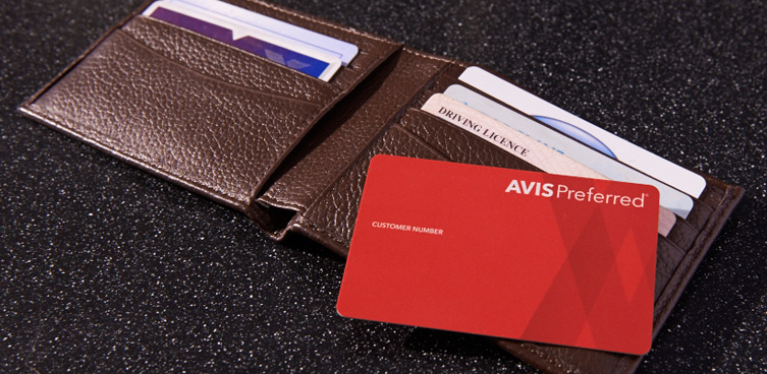 avis preferred cards in wallet